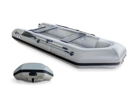 Надувная ПВХ-лодка Солар SL - 350 (светло-серый)