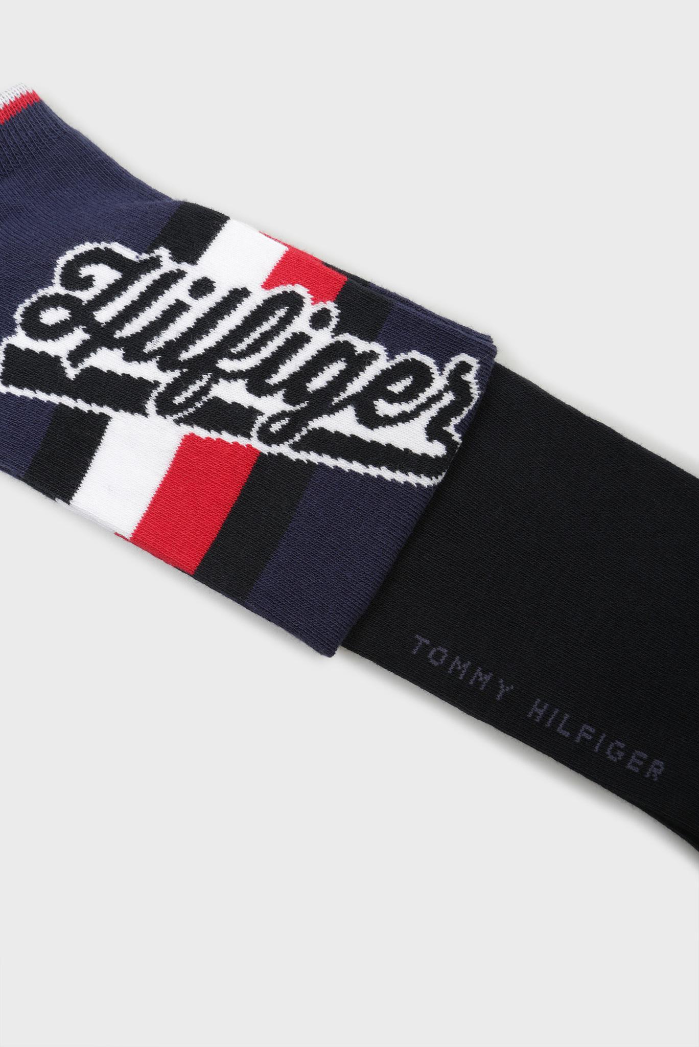 Мужские синие носки TH MEN HILFIGER SNEAKER (2 пары) Tommy Hilfiger