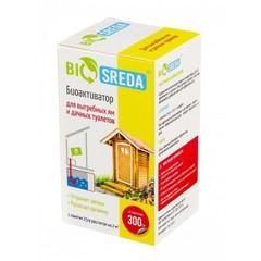 """Биоактиватор """"BIOSREDA"""" для выгребных ям и дачных туалетов биоактиватор, 300 гр 12 пакетиков"""