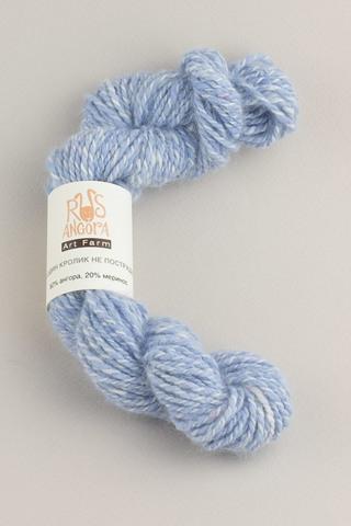 Пряжа ручной работы из 100 % ангоры, цвет голубой снег