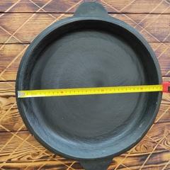 Чугунная крышка сковорода для казана 10л