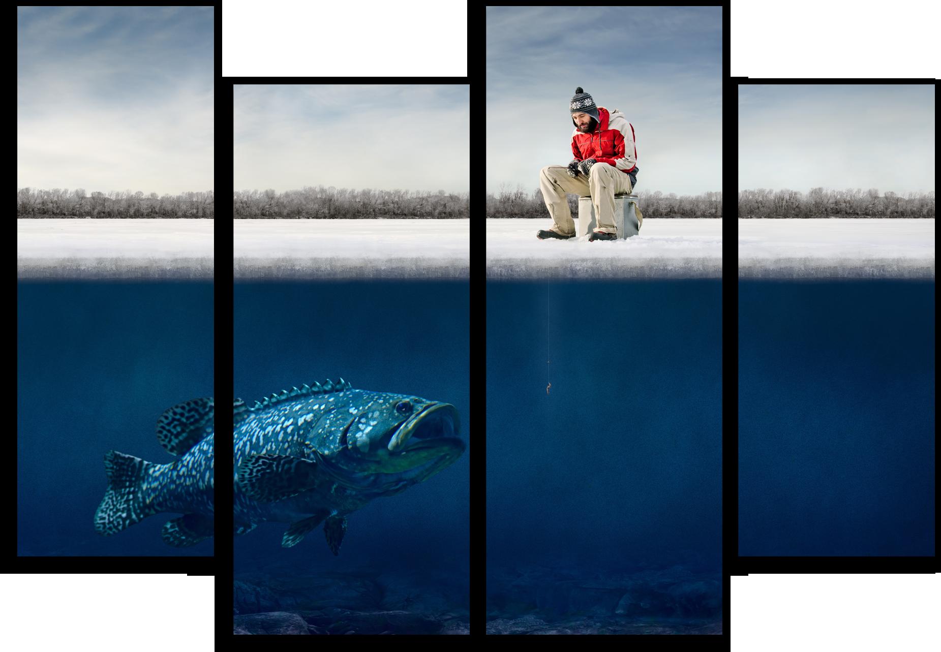 "Природа Модульная картина ""Зимняя рыбалка"" М552.png"