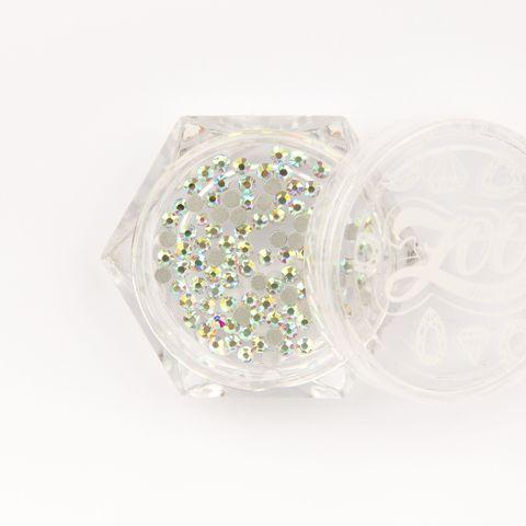Стразы стеклянные прозрачные AB голография SS5 (1,8 мм) 100 шт (1088)