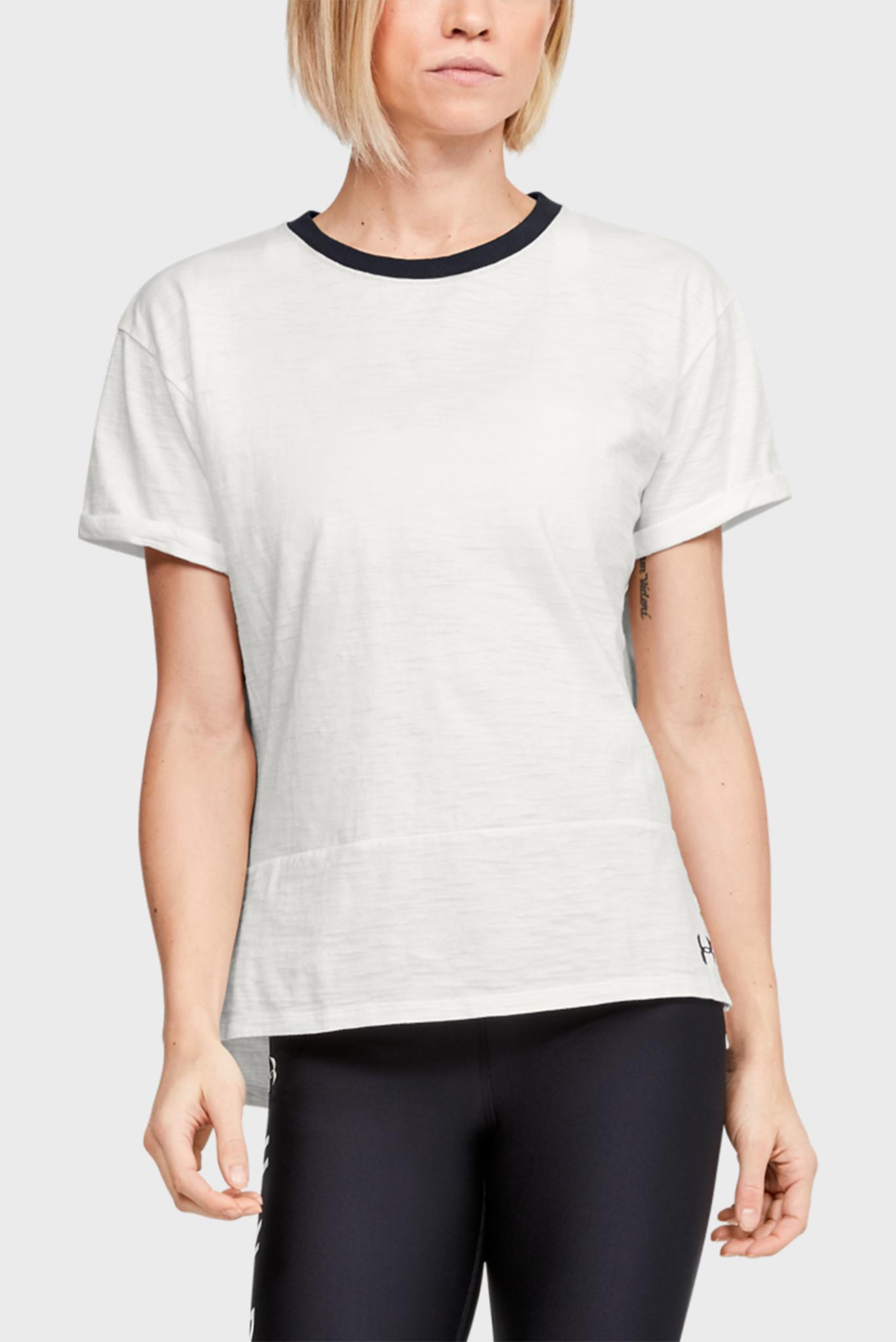 Женская белая футболка UA Charged Cotton SS Under Armour