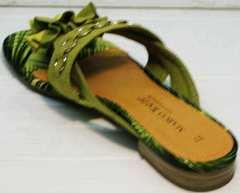 Женские вьетнамки босоножки без задника Marco Tozzi 2-27104-20 Green.