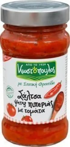 Закуска из запеченных в оливковом масле греческих красных перцев и томатами KOSTOPOULOS 300 гр