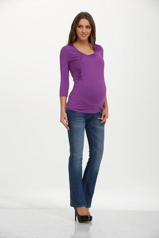 Лонгслив для беременных 01527 фиолетовый