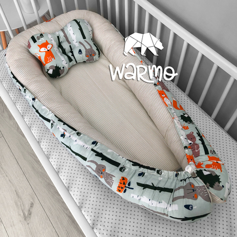Кокон (гнездышко) для новорожденных Warmo™ ЗВЕРИ