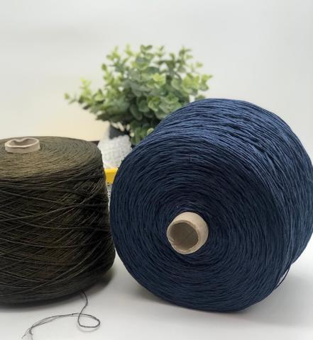 Лен 100% Miroglio CORDA 320 синий джинс