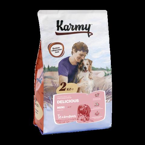 Karmy Delicious Mini Сухой корм для привередливых собак мелких пород с телятиной