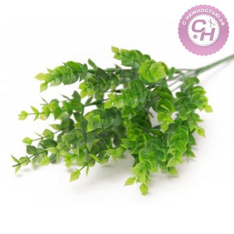 Искусственная зелень эвкалипта, 7 веток, 35 см.