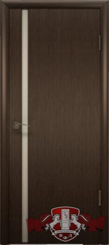 Дверь 8ДГ4 бел. Трипл. (венге, глухая шпонированная), фабрика Владимирская фабрика дверей