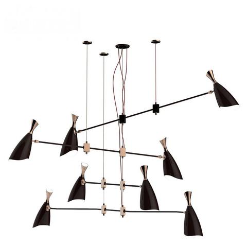 Подвесной светильник копия Duke by Delightfull (8 плафонов, черный)