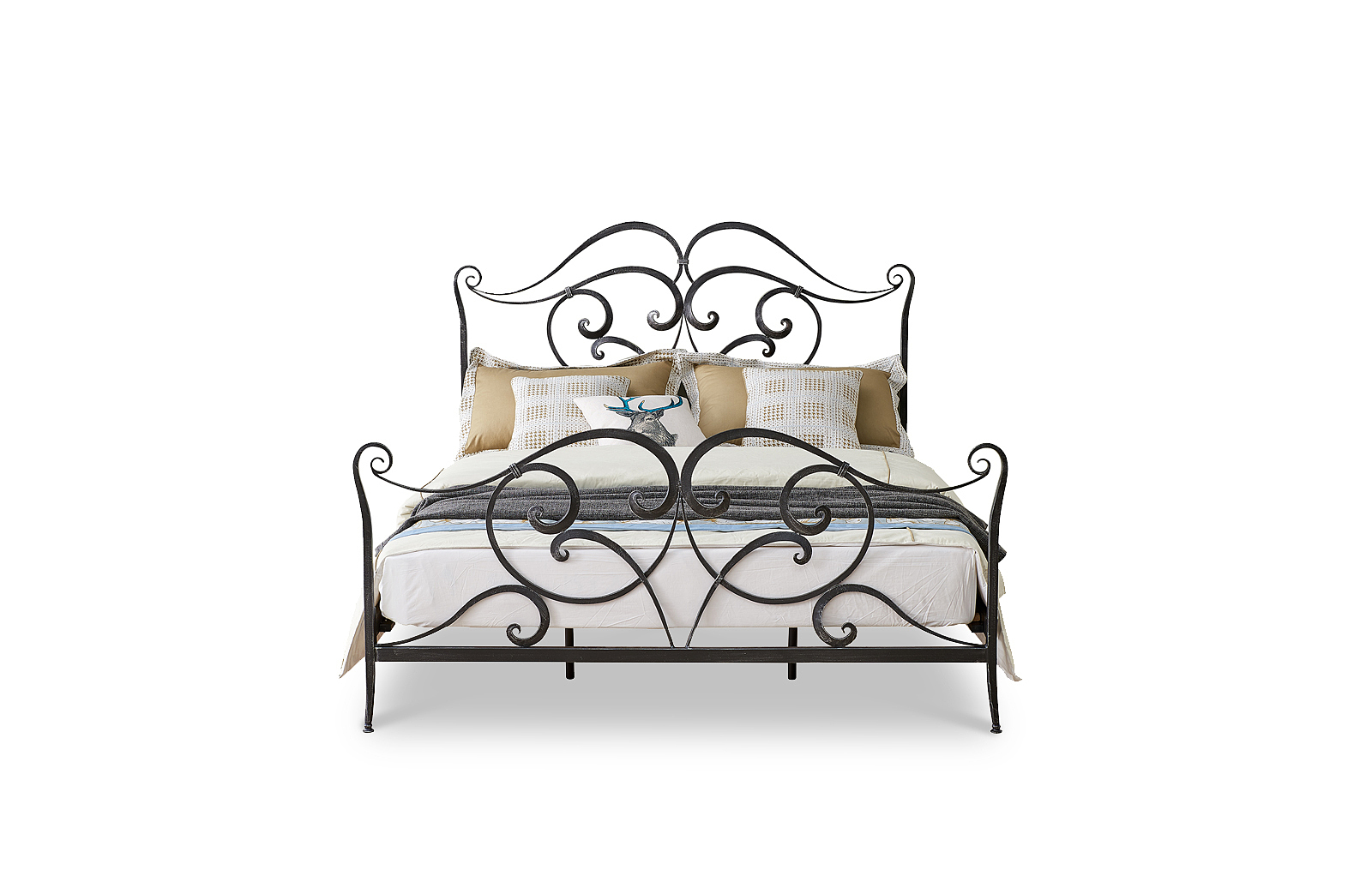 Кровать ESF TDF06009 черная с серым