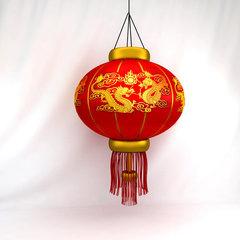 Большой китайский фонарик подвесной