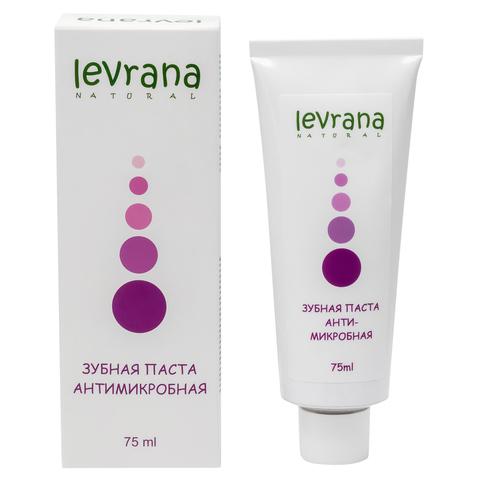 Levrana, Зубная паста Антимикробная, с лавандой и магнолией, 75мл