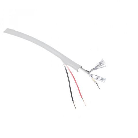 Кабель КВК-П-2х0,5 белый экранированный