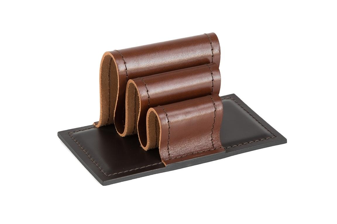Визитница-холдер PREMIUM из кожи Full Grain Toscana/Cuoietto шоколад