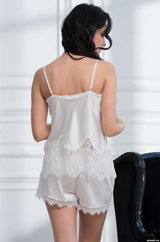 Комплект женский с шортами Mia-Amore  AFRODITA АФРОДИТА 2162 белый