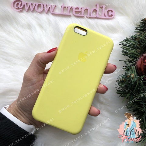 Чехол iPhone 6+/6s+ Silicone Case /flash/ лимонный 1:1