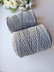 Серый Хлопковый шнур 4 мм