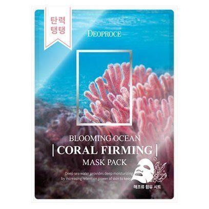 Deoproce Набор тканевых масок DEOPROCE  BLOOMING OCEAN CORAL FIRMING MASK PACK (25 г*5 шт) deoproce_blooming_ocean_coral_firming_mask_pack.jpg