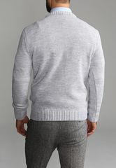 Джемпер мужской G121-07-косы D8 (св.серый)