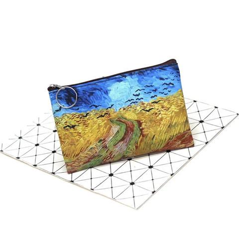 Pul, makiyaj çantası \  Кошелек, косметичка \ Money, makeup bag Van Gogh Пшеничное поле с воронами