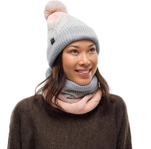 Комплект шапка шарф вязаный с флисом Buff Masha Air фото 1
