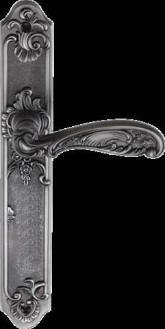 Дверная ручка GENESIS FLOR BL. SILVER