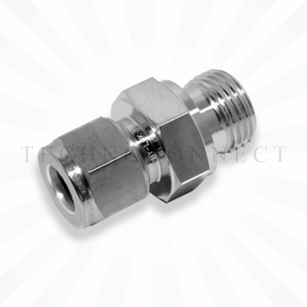 COM-6M-2G  Штуцер для термопары: метрическая трубка 6 мм- резьба наружная G 1/8