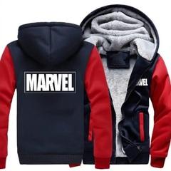 Куртка утепленная с капюшоном Марвел