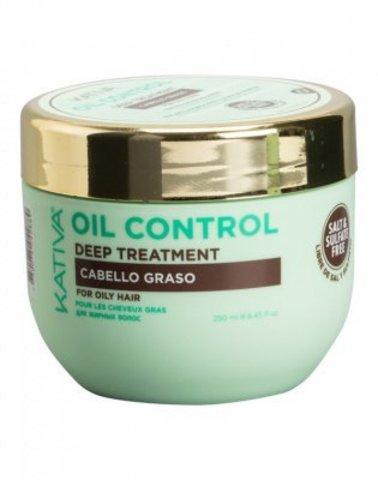 Маска «Контроль» интенсивный уход для жирных волос OIL CONTROL Kativa, 250 мл