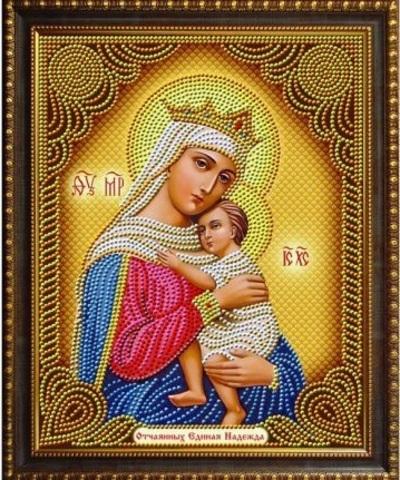 Алмазная Мозаика 27x33 Икона Отчаянных Единая Надежда (арт. AS72602)