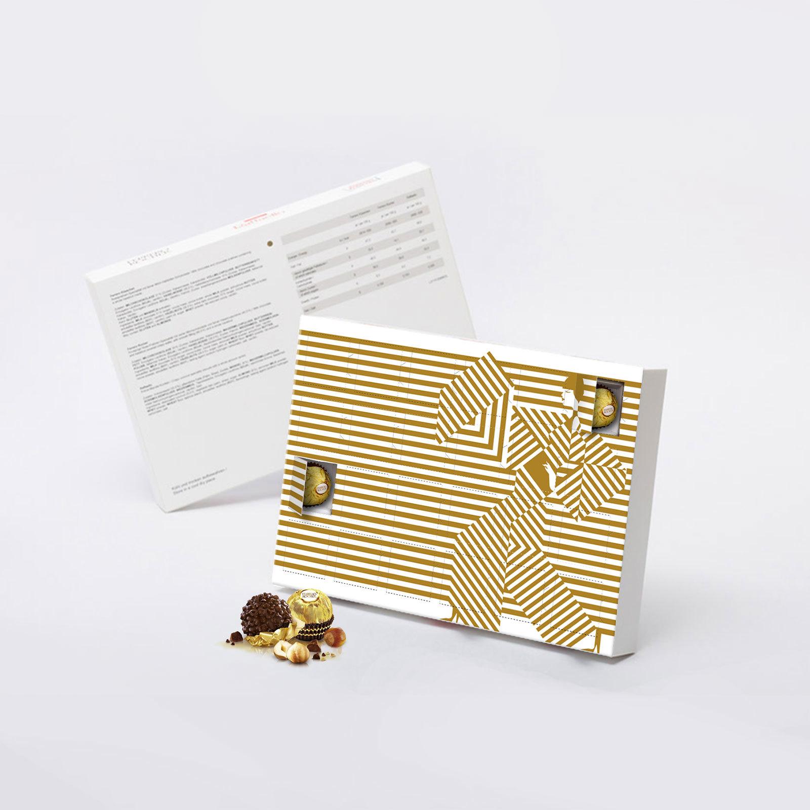 Конфеты Ferrero принт Gold с логотипом компании на 8 марта. 12 конфет