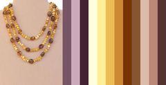 с чем сочетается ожерелье из разноцветного янтаря