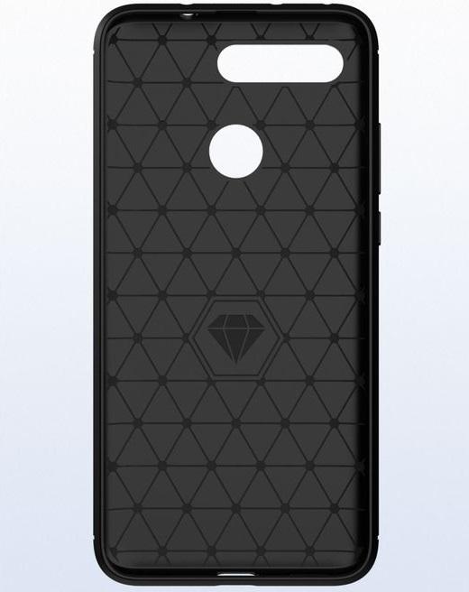Чехол для Honor V20 (View 20) цвет Black (черный), серия Carbon от Caseport