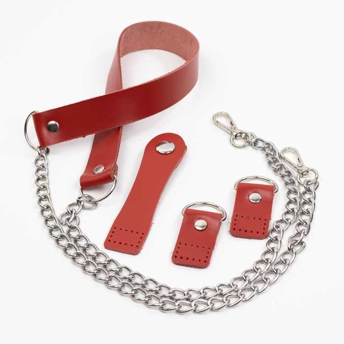 """Комплекты Комплект для сумки-ракушки """"Красный"""" с ручкой IMG_9272.jpg"""