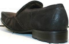 Стильные мужские мокасины нубук с натуральным мехом Welfare 555841 Dark Brown Nubuk & Fur.