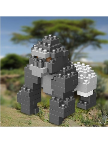 Конструктор Wisehawk Горилла 142 детали NO. C18 Gorilla Gift Series