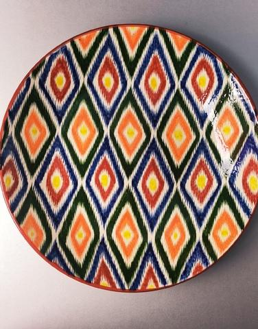 Ляган узбекский узор оранжевый 42 см