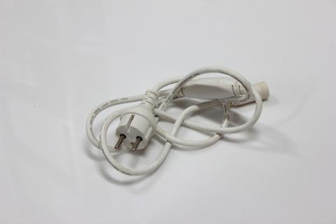 Силовой шнур для гирлянд Шарики RGB белый