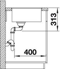 Мойка Blanco Subline 400-F схема