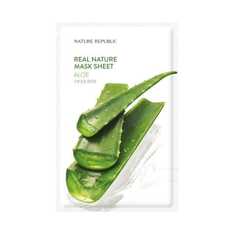 Маска для лица с алоэ NATURE REPUBLIC REAL NATURE ALOE MASK SHEET 23 мл