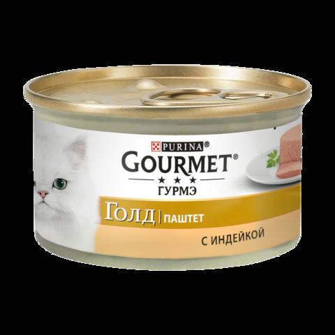 Gourmet Gold Консервы для кошек с Индейкой , Паштет