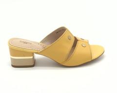 Сабо желтые на не высоком каблуке