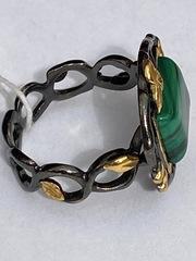 Калетта-малахит (кольцо из серебра)