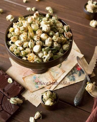 Роза Белая чайная сушеная (ароматная) - бутоны