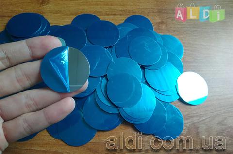 Металлическая пластина для магнитного держателя. Серебристая