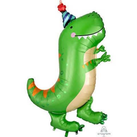 Фигура фольга Динозавр зеленый